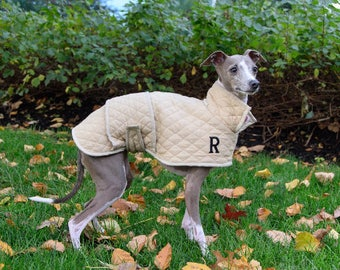 Fleece-Lined Quilted Dog Jacket (All Breeds)