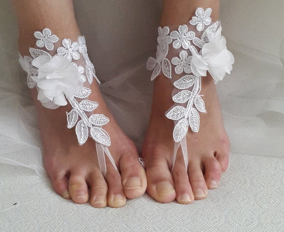 lace sandals bridal bridesmaids shoes white accessories wedding free Anklet sandals bridal gifts shipping wedding ZwExEqIR