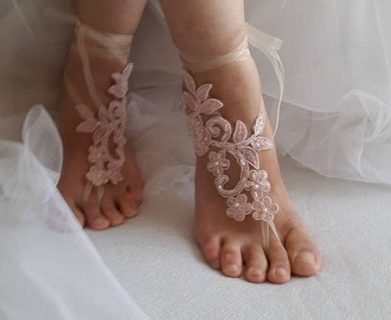 shoes wedding shoes sandals sandals barefoot bridal pink wedding lace sandals Wedding shipping free sandals Beaded PTdwqP8