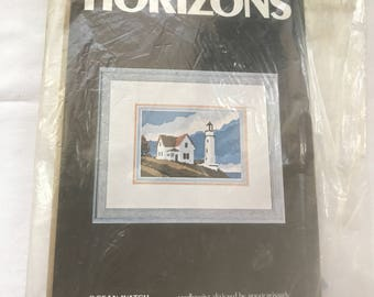 Needlepoint Kit, LightHouse,  OCEAN WATCH by Monarch Horizons