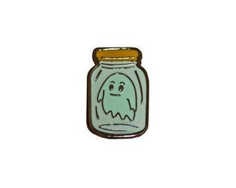 Glow in the Dark Ghost Hard Enamel Pin
