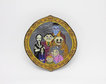 Addams Family Portrait Soft Enamel Pin