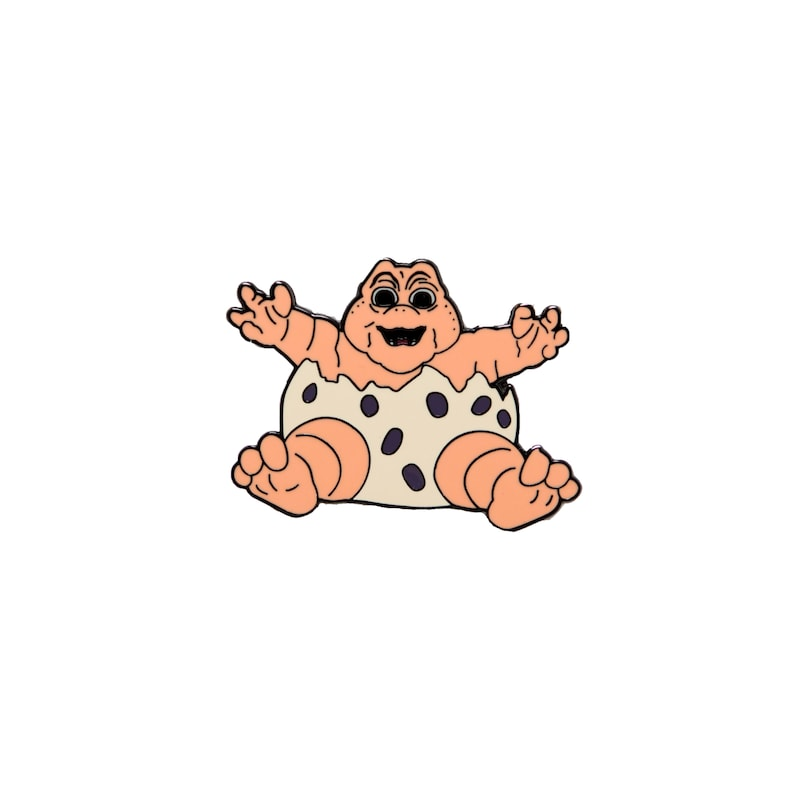 NOT THE MAMA Baby Sinclair Hard Enamel Pin image 0