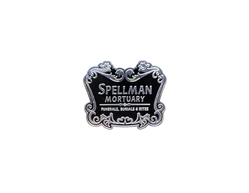 Spellman Mortuary Sign Enamel Pin image 0
