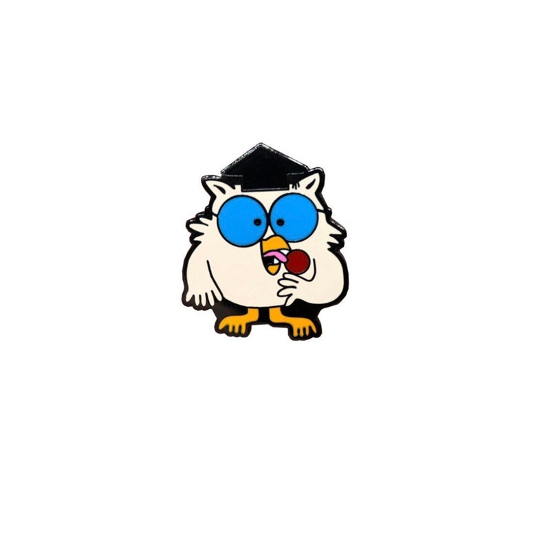 Tootsie Pop Owl Hard Enamel Pin image 0