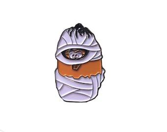 Mummy Halloween McNugget Enamel Pin