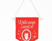 Christmas holiday home decor canvas banner