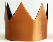 Copper fabric dress up children's birthday crown