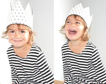 Child's fabric play crown | Playtime tiara | Holiday crown | Pretend play | Child's dress-up play crown | Kid's dressing-up headwear