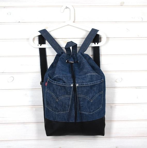 profiter de la livraison gratuite grande collection plus gros rabais Backpack denim, Backpack jeans, Vegan Backpack, blue backpack, sac, blue  sac, vegan, denim backpack, gymbag, denim, jeans