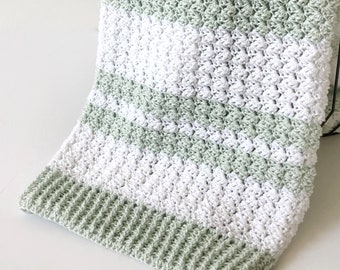 Crochet Sedge Stitch Baby Blanket Pattern