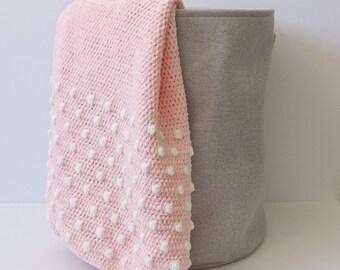 bd81550649e6d Crochet Polka Dot Blanket Pattern   Etsy
