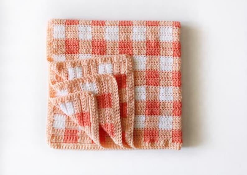 10 Crochet Gingham Blanket Patterns image 0