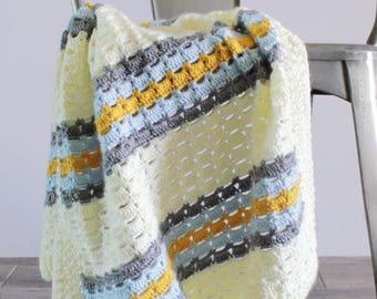 Crochet Boxed Block Stitch Blanket Pattern