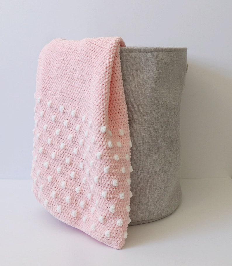 c41b8a379fff9 Crochet Polka Dot Ends Baby Blanket Pattern