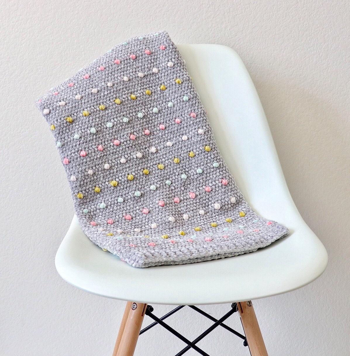 Crochet Candy Dots Baby Blanket Pattern