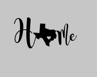 Texas Home Decal for Yeti/Tumblers, laptop or car window