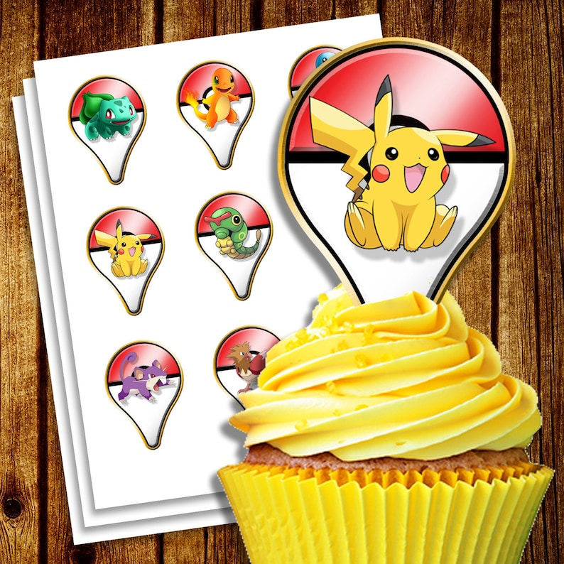 graphic regarding Pokemon Cupcake Toppers Printable called Pokemon Shift cupcake Toppers - Printable Pokemon Cupcake Toppers - Pokemon toppers - Electronic Pokemon Cupcake toppers - Pokemon get together