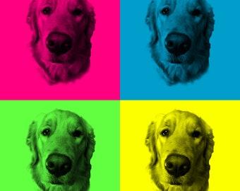 CUSTOM Doggie Pop Art