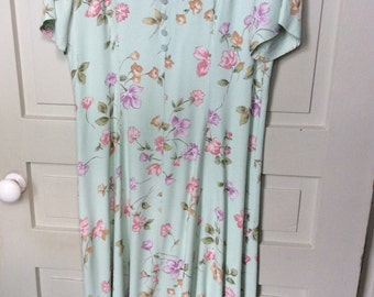 RJ & CO 1970s Floral Dress Size 12