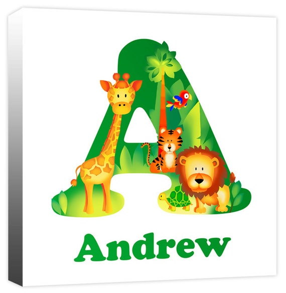 Personalised Jungle Animal Alphabet Letter Children S Name