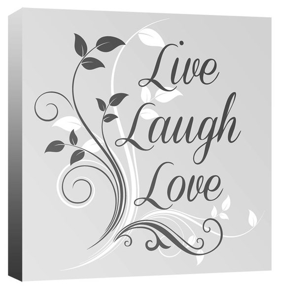 Live, Love, Laugh - Quote Words Canvas Wall Art Print Picture - 20\