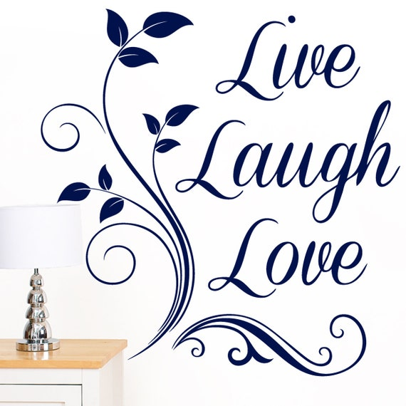 Live Laugh Love Quote Words Family Wall Sticker - Art Vinyl Decal Mural  Transfer - by Rubybloom Designs W160