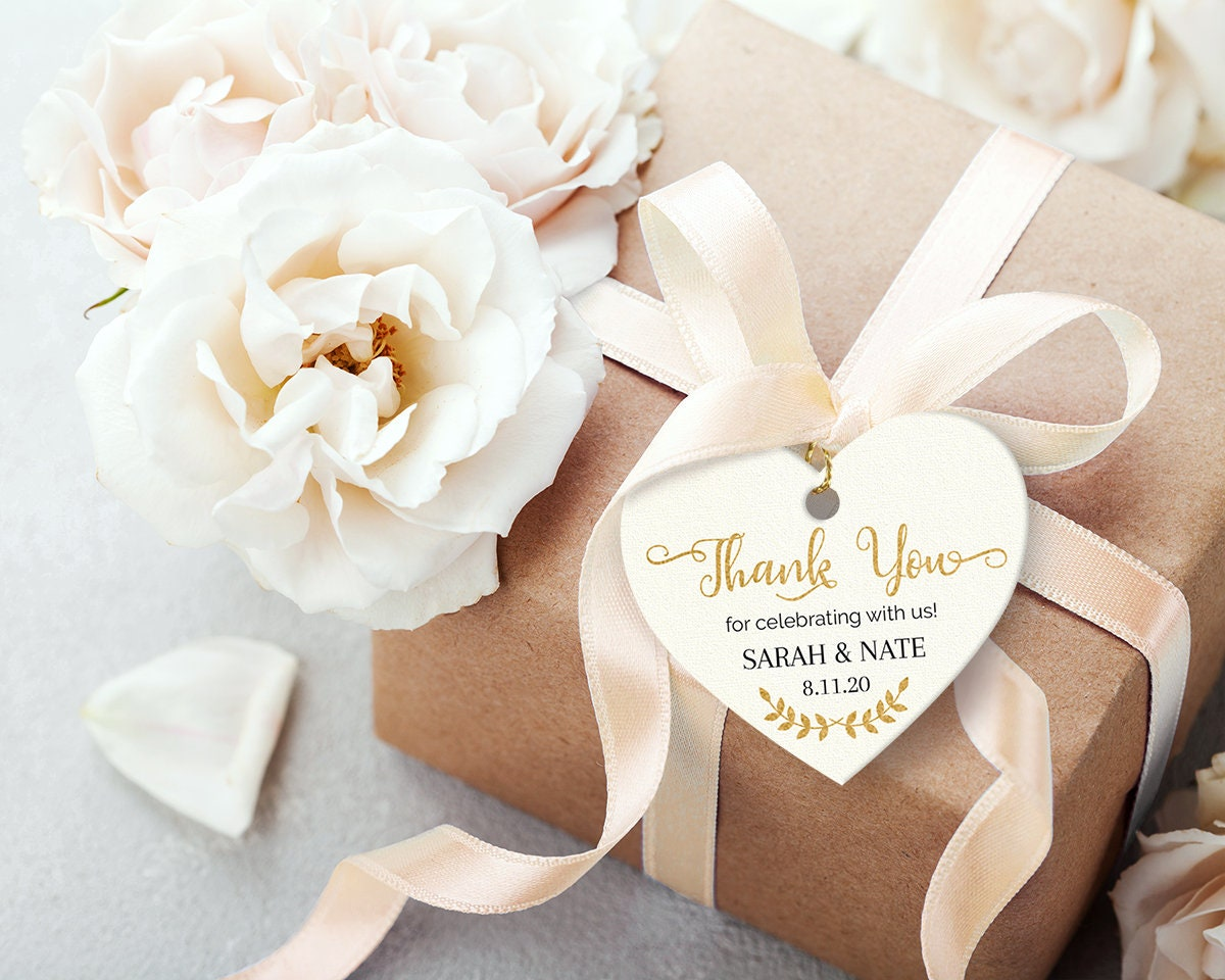 Printable Wedding Favor Tags Editable Pdf Heart Diy Gift Etsy