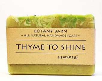 Thyme soap - Herbal Soap, Luxury Soap, Artisan Soap, Naturally Scented, All Natural Soap, Handmade Soap, Cold Process Soap, Homemade Soap