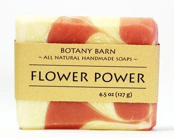 Floral Soap - Luxury Soap - Ylang Ylang, Lavender, All Natural Soap, Organic Soap, Handmade Soap, Cold Process Soap, Vegan Soap, Rose Quartz