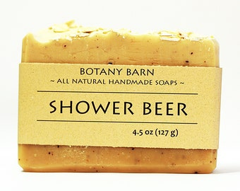 Shower Beer, Beer Soap, Cedarwood and Rosemary, Manly Soap, Exfoliating Soap, Homemade Soap, Gift for Boyfriend, Coffee Soap, Artisan Soap