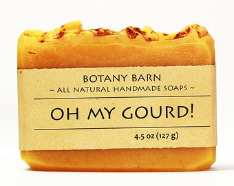 Pumpkin Soap - Oh my Gourd! - Pumpkin Spice Soap, Vanilla Soap, Cinnamon Soap, Natural Soap, Handmade Soap, Pumpkin Pie Soap