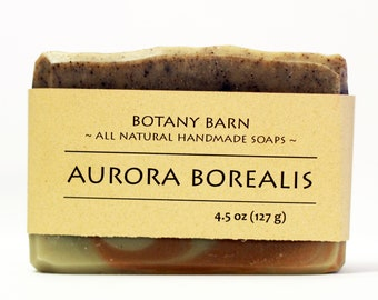 Aurora Borealis Soap - Patchouli Soap, Lavender Soap, All Natural Soap, Organic Soap, Cold Process Soap, Vegan Soap, Luxury Mens Soap