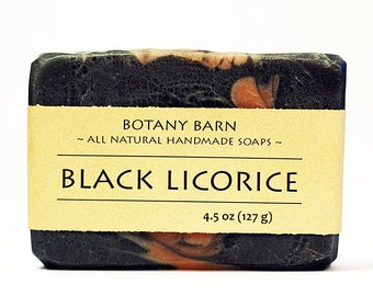 Black Licorice Soap - Star Anise Soap, Fennel Soap, Natural Soap, Handmade Soap, Cold Process Soap, Vegan Soap, Organic Soap, Essential Oil