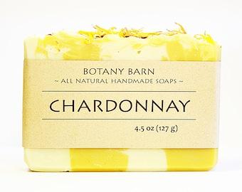 Wine Soap - White Wine Soap, Floral Soap, Bar Soap, Organic Soap, Cold Process Soap, Natural Soap, Palmarosa, Palm Free Soap, Homemade Soap