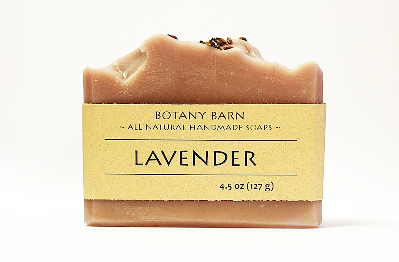 Natural Bar of Handmade Organic Lavender Soap. Luxury Cold image 0