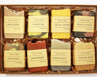 Soap Gift Set, Soap Sampler, Cold Process Soap, Hostess Gift, Natural Soap, Organic Soaps, Gift for Women, Gift for Men, Beauty Gift, Mixed