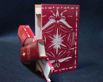 Secret opening book Box, Personalized Teacher gifts, wooden Book Box, Secret compartment, home decor, puzzle box, brain teaser money bank