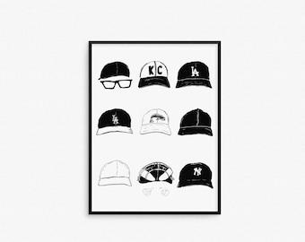 Sandlot Hat Print