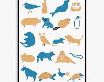 Happy Animals Print