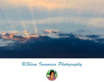 Sky Print Cloud Print - Sky Art Blue Sky Print Sky Photography, Cloud Photography, Cloud Photo