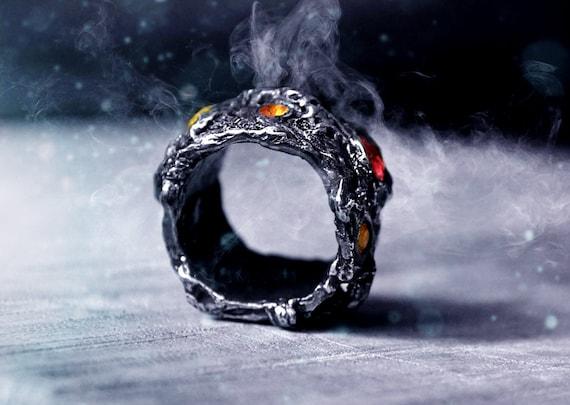 Rustic Ring Freeform Ring Size 9 Molten Ring Viking Ring Fused Ring