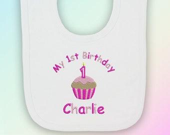 My 1st Birthday Cake Boy Embroidered Baby Bandana Dribble Bib Gift