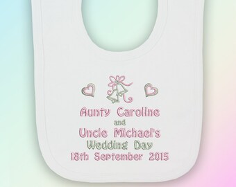 Mummy and Daddys Special Little Wedding Guest Baby Bandana Bib