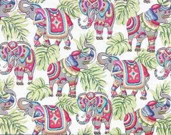77b4d28775 Indian Elephants Tapestry Fabric Material *2 Sizes*