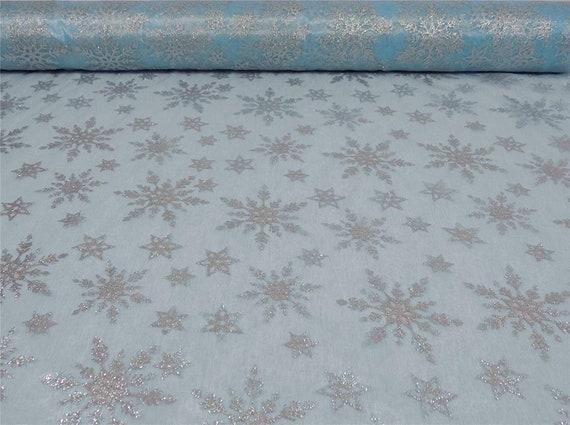 Fat Quarter Blue Snowfall 100/% Cotton Quilting Fabric Ideal for Frozen