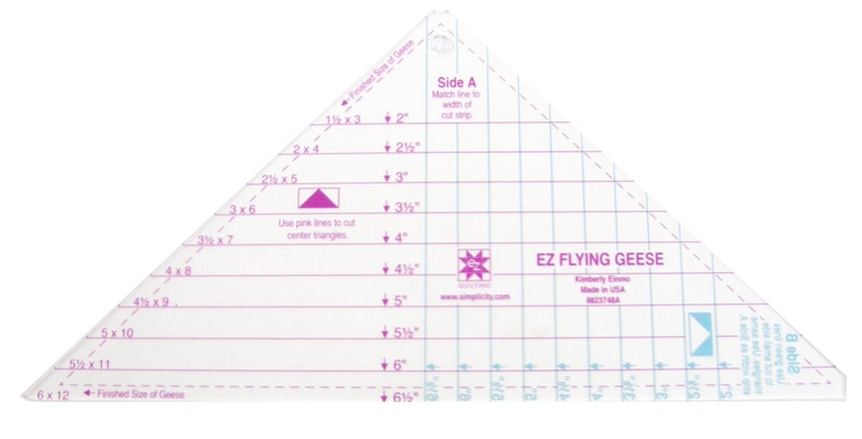 Flying Geese Triangle Acrylic Quilting Template