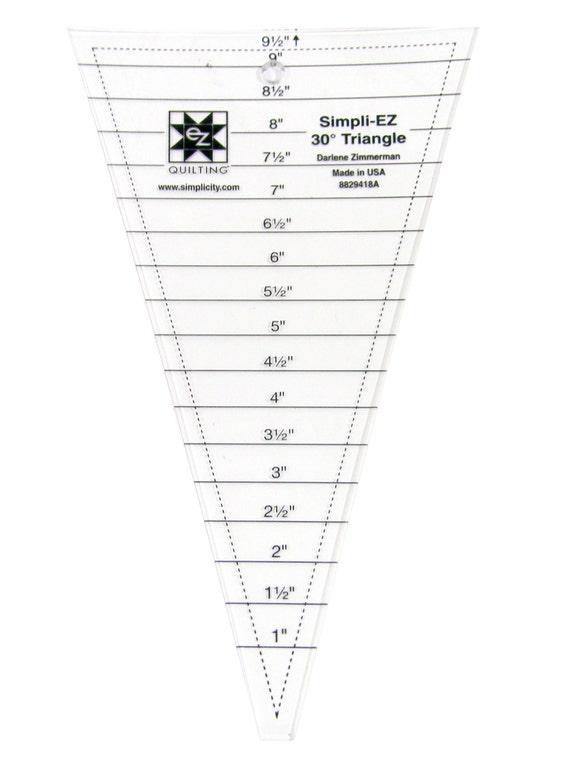30 grados triángulo acrílico acolchado plantilla de PCJSupplies en ...