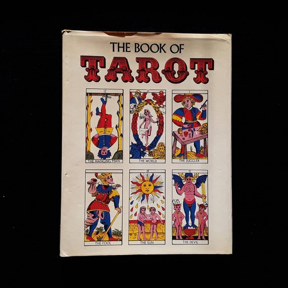 The Book Of Tarot By Fred Gettings 1973 Hardcover With Dust Etsy