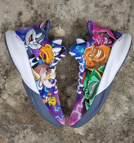 Custom Space Jam Shoes/ NBA /Bugs Bunny